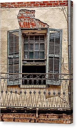 Worn Window Canvas Print by Christopher Holmes