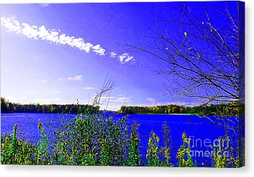 Worster Lake Autumn 2011 Canvas Print by Tina M Wenger