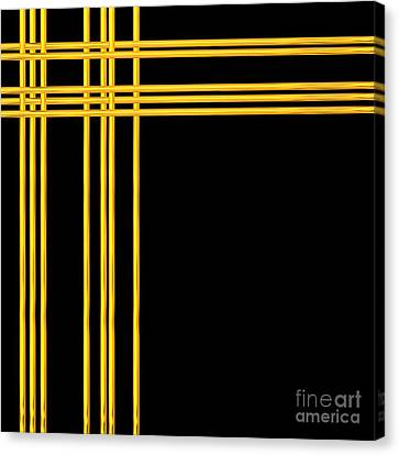 Woven 3d Look Golden Bars Abstract Canvas Print by Rose Santuci-Sofranko