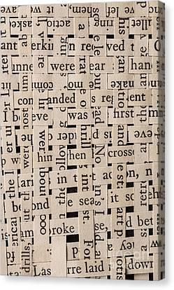 Woven Words Canvas Print by Edward Fielding