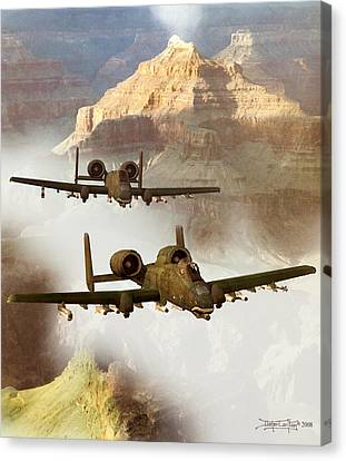 Wrath Of The Warthog Canvas Print by Dieter Carlton