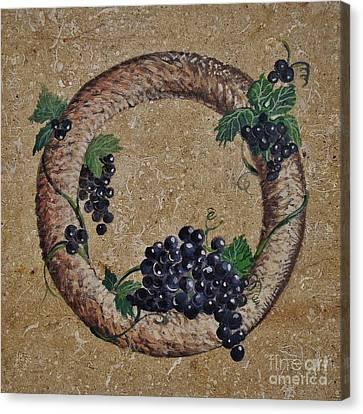 Wreath 3 Canvas Print by Andrew Drozdowicz