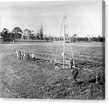 Wright Flyer II-iii Catapult Canvas Print by Library Of Congress
