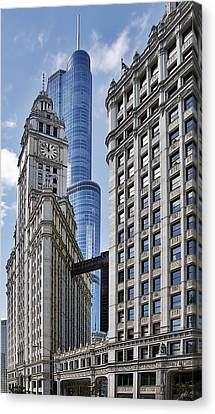 Wrigley And Trump In Harmony Canvas Print by Christine Till
