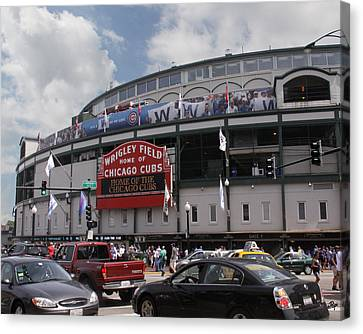 Wrigley Field Canvas Print by Paul Anderson