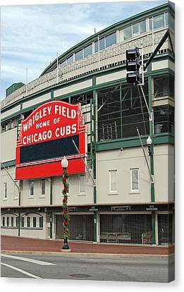 Wrigley Field Canvas Print by Skip Willits