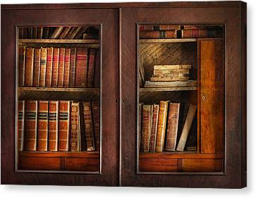 Writer - Books - The Book Cabinet  Canvas Print by Mike Savad