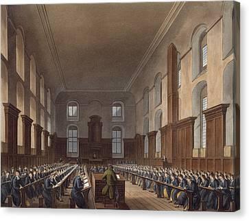 Writing School, Christ Hospital Canvas Print by Frederick Mackenzie