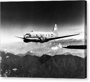 Ww II: Transport Aircraft Canvas Print by Granger