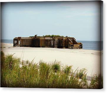 Wwii Bunker Canvas Print by Brenda Conrad