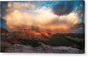 Wyoming Sunset Canvas Print by Leland D Howard