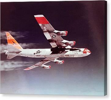 X-15 Mated To Its Mothership B52 Canvas Print by Nasa