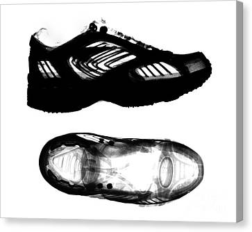 X-ray Of Athletic Shoe Canvas Print by Bert Myers
