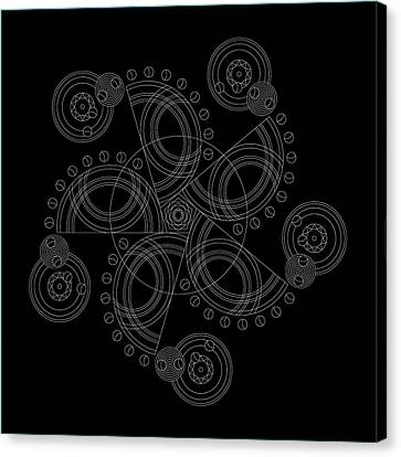 X To The Sixth Power Inverse Canvas Print by DB Artist