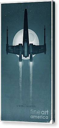 X Wing Fighter Canvas Print by Baltzgar