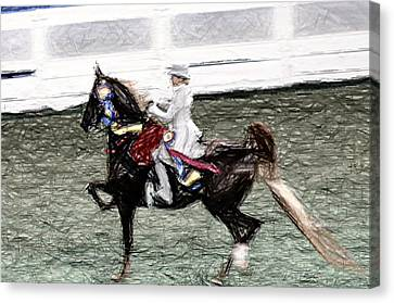 Xiv I - World Championship Horse Show - Louisville Ky Canvas Print by Thia Stover