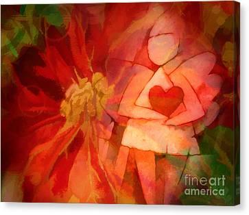 Xmas Angel Canvas Print by Lutz Baar