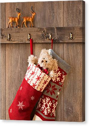 Xmas Stockings Canvas Print by Amanda And Christopher Elwell