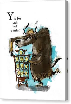 Y Is For Yak Canvas Print by Sean Hagan