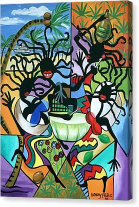 Ya Mon Canvas Print by Anthony Falbo