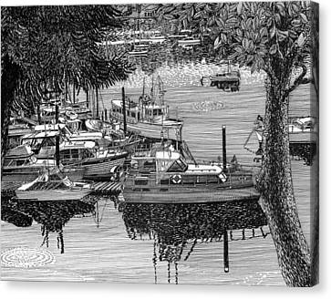 Port Orchard Yacht Club Cruise To Vashon Island Canvas Print by Jack Pumphrey