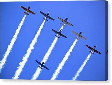 Yak 52 Formation Canvas Print by Phil 'motography' Clark