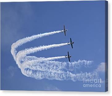 Yaks Aerobatics Team Canvas Print by Jane Rix