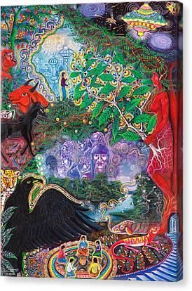 Yana Huaman Canvas Print by Pablo Amaringo