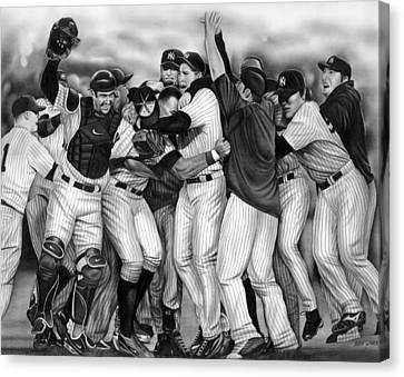 Yankee Celebration Canvas Print by Jerry Winick