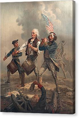Yankee Doodle Or The Spirit Of 76, Published By J.f. Ryder After Archibald M. Willard Chromolitho Canvas Print by Archibald Willard