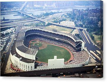 Yankee Stadium Aerial Canvas Print by Retro Images Archive