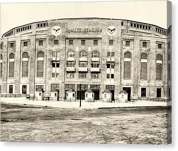 Yankee Stadium Canvas Print by Bill Cannon