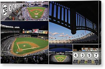 Yankee Stadium Collage Canvas Print by Allen Beatty
