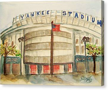 Yankee Stadium  Canvas Print by Elaine Duras