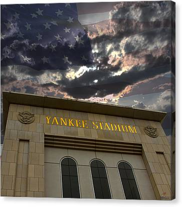 Yankee Stadium Ny Canvas Print by Chris Thomas