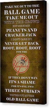 Yankees Peanuts And Cracker Jack  Canvas Print by Movie Poster Prints