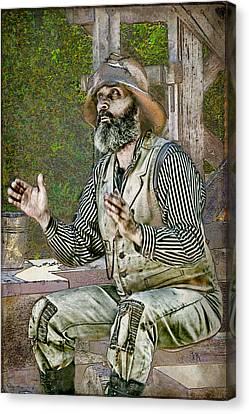 Yarn In Progress Canvas Print by Ed Hall