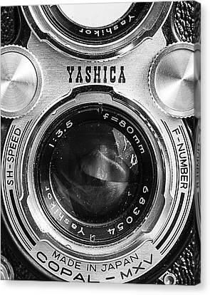 Yashica 635 - Front Detail Canvas Print by Jon Woodhams