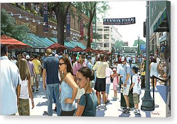 Yawkey Way Canvas Print by Linda Tenukas