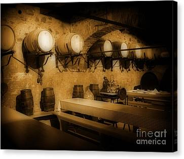 Ye Old Wine Cellar In Tuscany Canvas Print by John Malone