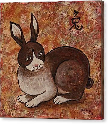 Year Of The Rabbit Canvas Print by Darice Machel McGuire