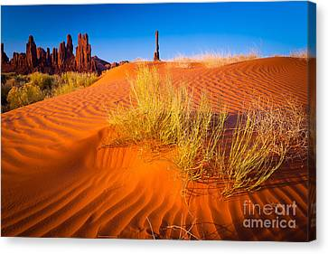 Yei-bi-chai Rocks And Dunes Canvas Print by Inge Johnsson