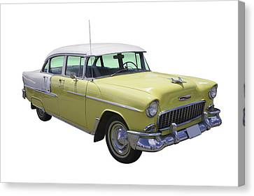 Yellow 1955 Chevrolet Bel Air Canvas Print by Keith Webber Jr