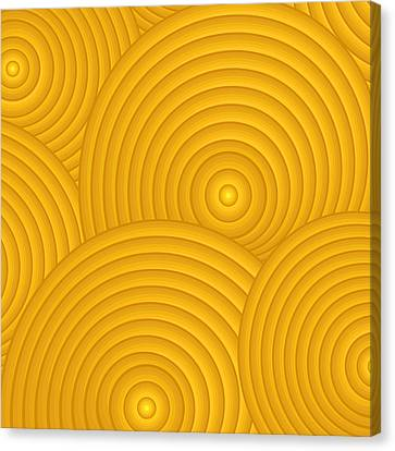 Yellow Abstract Canvas Print by Frank Tschakert