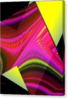 Yellow And Pink Designs Canvas Print by Mario Perez