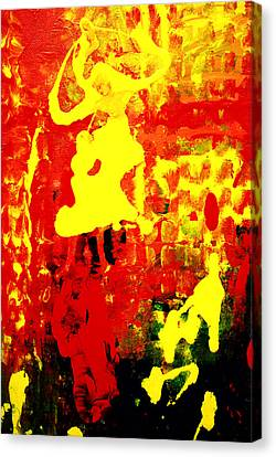 Yellow And Red Canvas Print by Patricia Motley