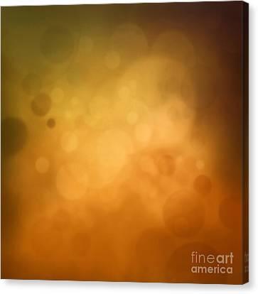 Yellow Autumn Bokeh Background Canvas Print by Mythja  Photography