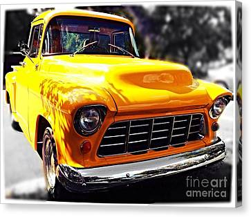 Yellow Chevy Canvas Print by Garren Zanker