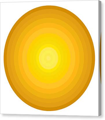 Yellow Circles Canvas Print by Frank Tschakert
