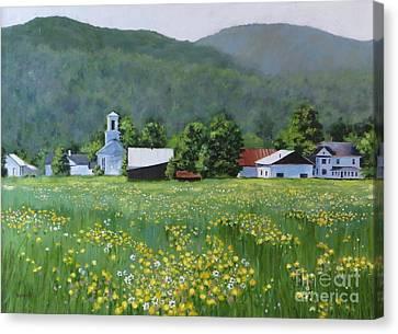 Yellow Daisies Canvas Print by Karol Wyckoff